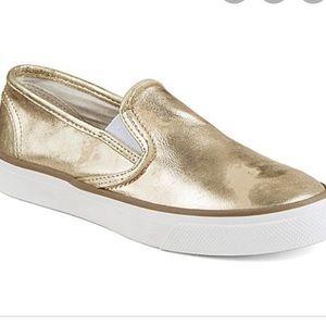 Pale Gold Slip On Sneakers | Poshmark